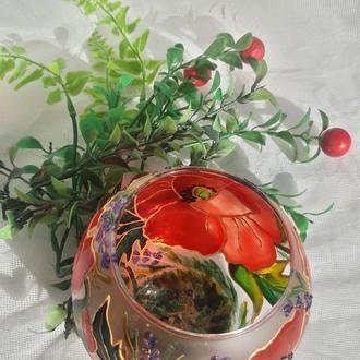"""Подсвечник-вазочка """" Маков цвет"""""""