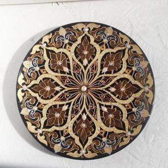 Тарелка интерьерная в восточном стиле