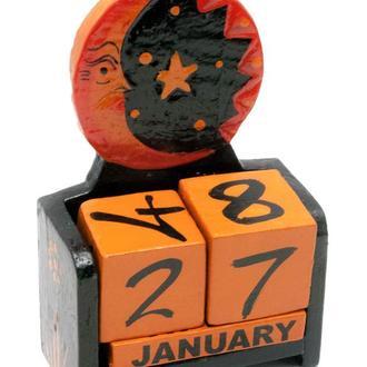 Календарь декоративный настольный Луна с Солнце