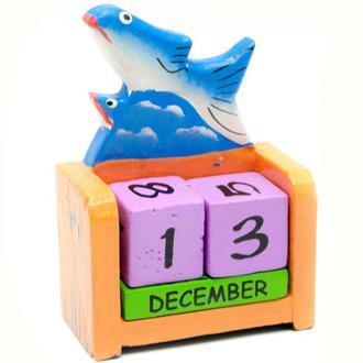 Календарь декоративый настольный Рыба