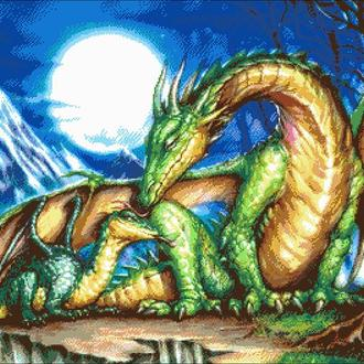"""Набор для вышивки бисером """"Легенда о драконе"""""""