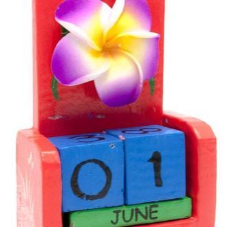 Календарь на стол деревянный Цветок