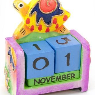 Календарь для ребенка настольный Черепаха