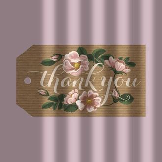 """Бірка-тег """"thank you"""""""
