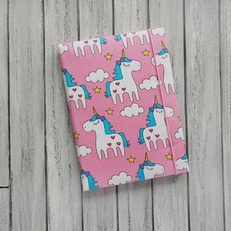 Блокнот с единорогами и розовыми листами (подарок девочке)