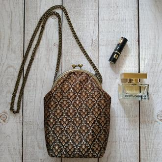 Сумка женская, сумочка на фермуаре, летняя сумка