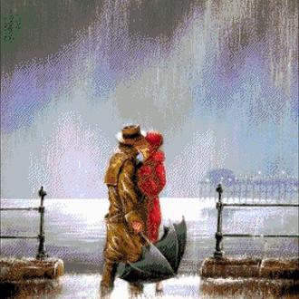 """Набор для вышивки бисером """"Поцелуй под дождем"""""""