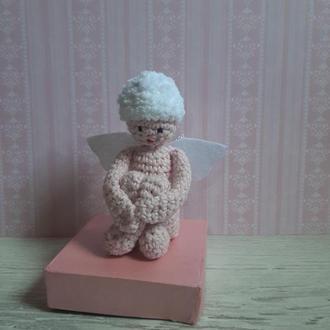 Вязаная игрушка, ангелочек