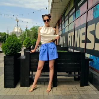 Стильные летние шорты с накладными карманами TRENDY SHORTS