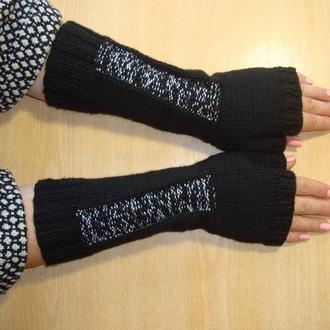 Вязаные митенки перчатки без пальцев стильные - сезон 2020/2021
