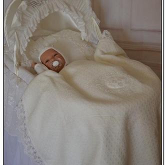Летнее одеяльце плед на выписку для новорожденных Исида