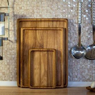 Набор деревянных подносов, три предмета А-9124