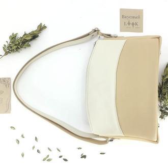 """Женская сумка из натуральной кожи """"Можжевельник"""" (беж)"""