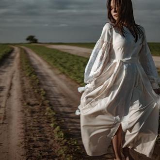 Вишита весільна сукня, плаття вишиванка, вышитое платье в стиле бохо