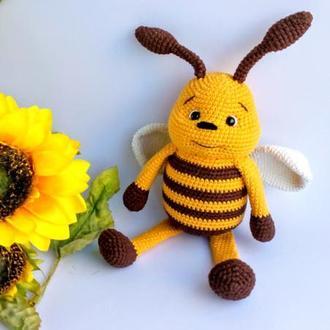 Пчела амигуруми. Пчела вязаная крючком.