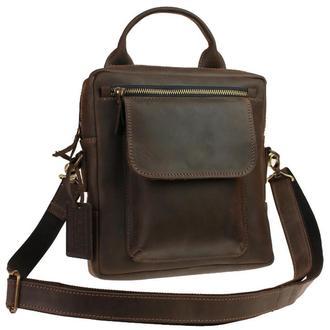 Именная кожаная сумка через плечо «HRX»