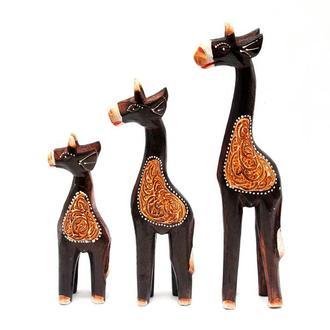 Статуэтки Жирафы из дерева 3 шт