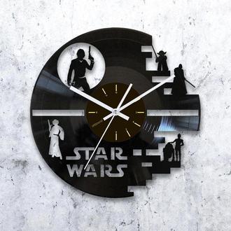 Виниловые часы Звезда Смерти
