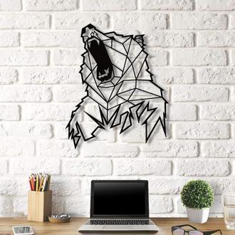 """Картина панно """"Медведь"""" панно из дерева"""