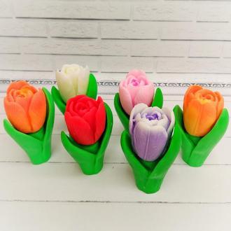 Тюльпан из мыла