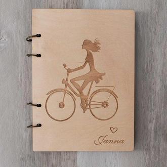 Подарочный блокнот для девочки с именной гравировкой