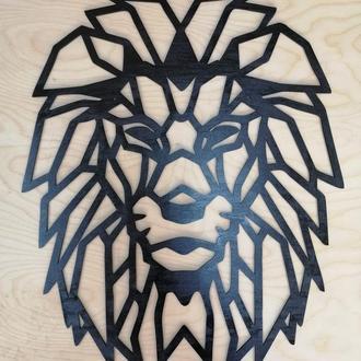 """Деревянное панно картина """"Голова Льва"""""""