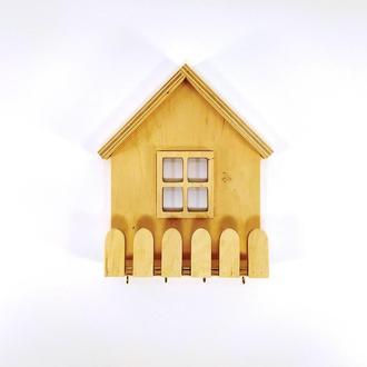 Ключница с полочкой домик  Мастерская мистера Томаса 20см х 17см х 6см Фанера 10мм