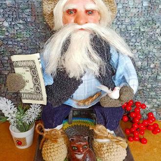 Дед Кондрат - сувенирная кукла