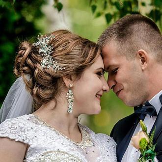 Весільна прикраса для волосся,зелена гілочка в зачіску, аксесуар у зачіску