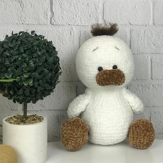 Детская вязаная игрушка  «Уточка»