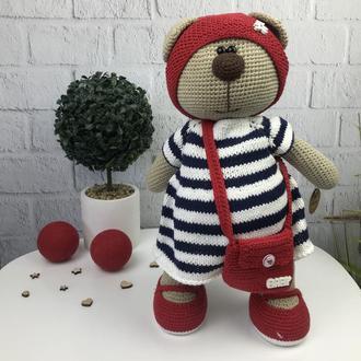 Вязаная детская игрушка  «Медведица»