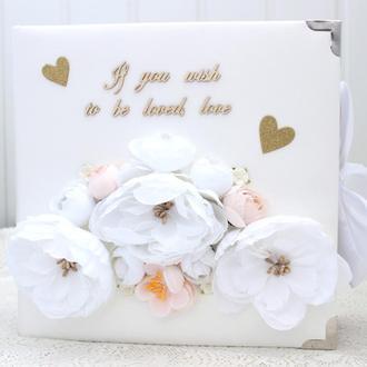 Большой свадебный альбом скрапбукинг , свадебный фотоальбом,  свадебный скрапальбом
