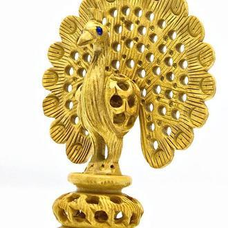 Статуэтка Павлин деревянная