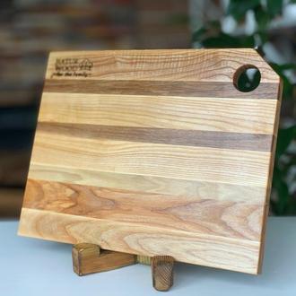 Деревянная разделочная доска (37х27х2 см)