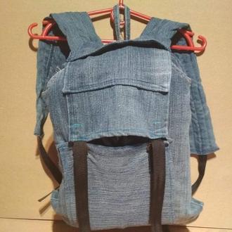 Рюкзак городской из джинсов