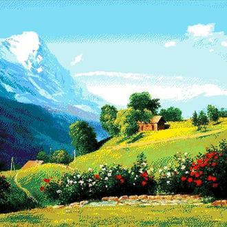 """Набор для вышивки бисером """"Альпийский пейзаж"""""""