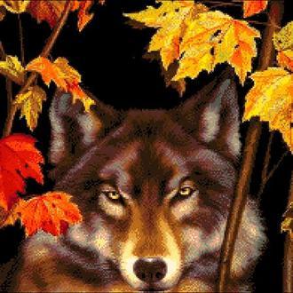 """Набор для вышивки бисером """"Волк в лесу"""""""