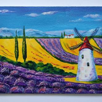 """Картина """"Прованс"""" 15х20 см, Пейзаж, Мініатюра"""