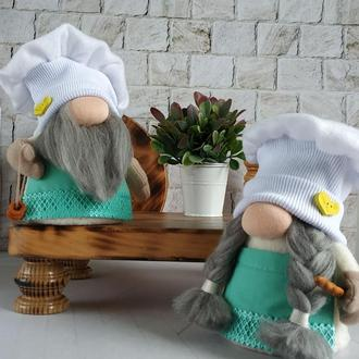 Скандинавские гномы .Гномы в подарок. Парочка гномов-поваров.