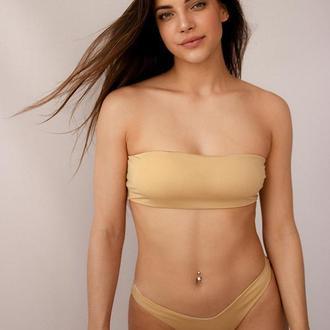 Золотий жіночий купальник - Бандо 2020, золотий купальник роздільний