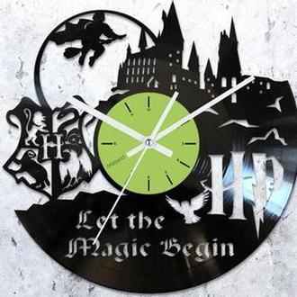 Виниловые часы Гарри Поттер. Хогвартс