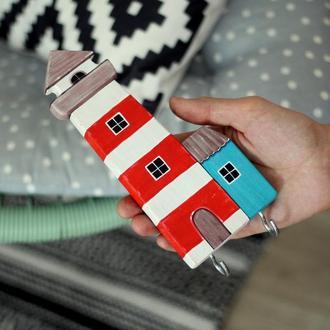 Ключница - вешалка Маяк.Декор в дом.Подарок к новоселью.
