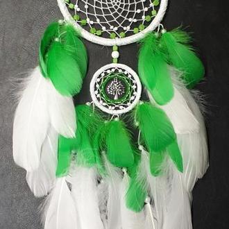 Ловец снов бело-зелёный.
