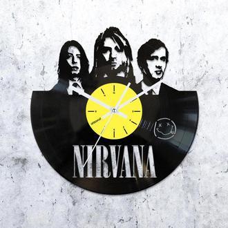 Виниловые часы Нирвана