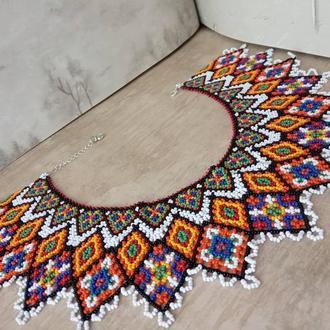 Женское ожерелье - Силянка Этно из чешского бисера