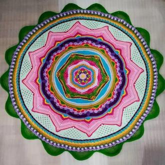 Коврик для медитаций, ковер Лотос для медитаций, круглый коврик для медитаций диаметр 1,5 метра
