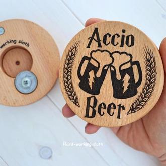 Подставка с открывалкой «Accio Beer» / Подставка с открывалкой «Accio Beer»