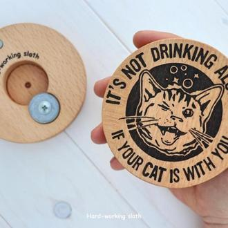 Подставка с открывалкой «Кот выпивоха» / Подставка с открывалкой «Кот собутыльник»