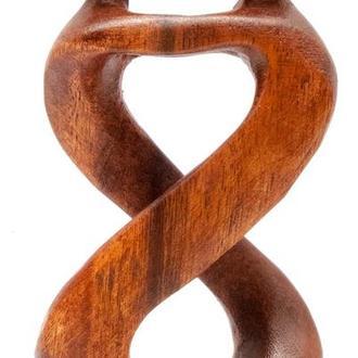 Статуэтка Влюбленные из дерева резная