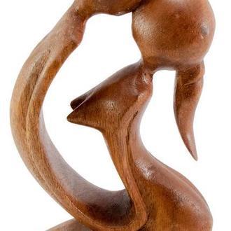 Статуэтка Влюбленные дерево резная